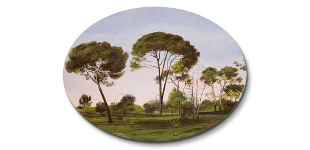 Óvalo del bosque (40x30)